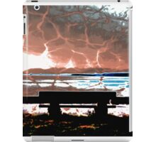Water Takes over the Beach Bench iPad Case/Skin