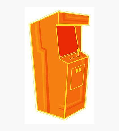 Arcade, Orange 2 Photographic Print