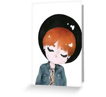 Suga Chibi Greeting Card