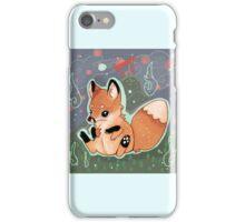 Chibi Red Fox Kitsune Kit  iPhone Case/Skin