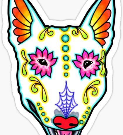 Day of the Dead Bull Terrier Sugar Skull Dog Sticker