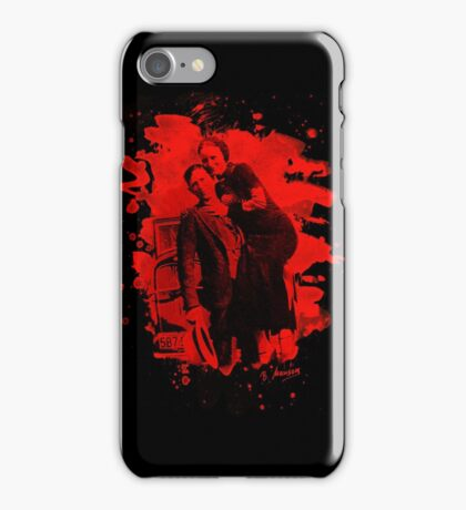 Bonnie & Clyde (bleached look) red iPhone Case/Skin