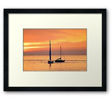 encontro. meeting point. Framed Print