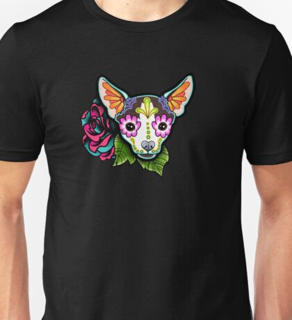 Day of the Dead Chihuahua in Moo Sugar Skull Dog Unisex T-Shirt