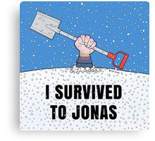 I SURVIVED TO JONAS Canvas Print