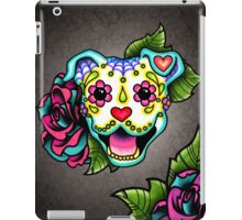 Day of the Dead Smiling Pit Bull Sugar Skull Dog iPad Case/Skin