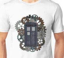 Wooden TARDIS with Clockwork  Unisex T-Shirt