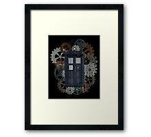 Wooden TARDIS with Clockwork  Framed Print