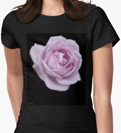 Lilic Rose on Black Velvet Womens Fitted T-Shirt