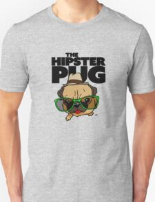 Funny Hipster Pug cartoon dog2. T-Shirt