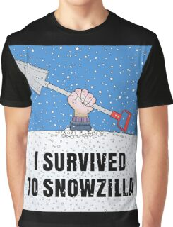 I SURVIVED TO SNOWZILLA Graphic T-Shirt