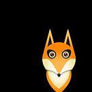 Cute Orange Fox Skirt by Melissa Park