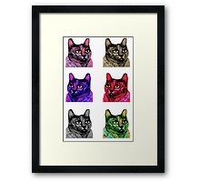 Pop Art Cats Framed Print