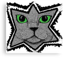 Peeking Pixel Cat Canvas Print