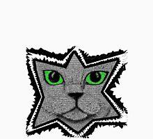 Peeking Pixel Cat Mens V-Neck T-Shirt