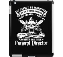 Undertaker funeral director voice Badass funeral director mug funeral  iPad Case/Skin