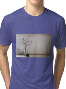 Contemporary flower seed in glass jar Tri-blend T-Shirt