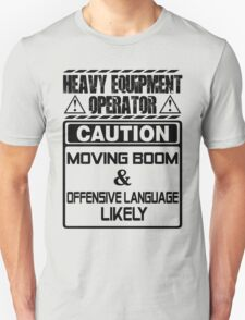 Background Vector Bolt  heavy equipment operator heavy equipment opera T-Shirt