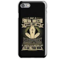 Undertaker funeral director funeral director license plate funeral dir iPhone Case/Skin