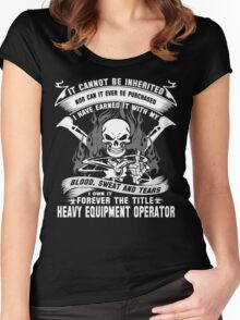 heavy equipment operator Animated Bolt Vector heavy equipment operator Women's Fitted Scoop T-Shirt