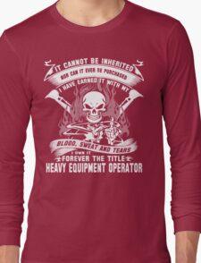 heavy equipment operator Animated Bolt Vector heavy equipment operator Long Sleeve T-Shirt
