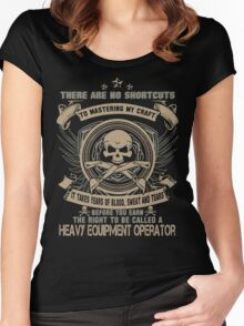 Cold  heavy equipment operator Tower heavy equipment operator Heavy Eq Women's Fitted Scoop T-Shirt