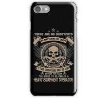 Cold  heavy equipment operator Tower heavy equipment operator Heavy Eq iPhone Case/Skin
