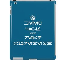 KEEP CALM and READ AUREBESH (white) iPad Case/Skin