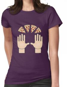 Pizza emoji Womens Fitted T-Shirt