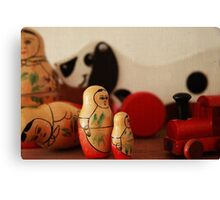Vintage wooden toys Canvas Print