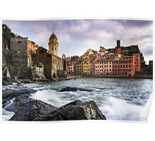 Vernazza Waves Poster