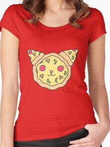 Pizza cat Women's Fitted Scoop T-Shirt