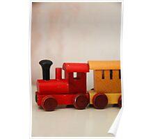 A cute little wooden train Poster