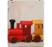 A cute little wooden train iPad Case/Skin