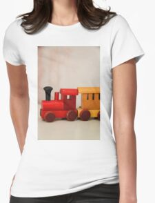 A cute little wooden train Womens Fitted T-Shirt