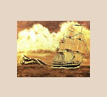 A digital painting of my acrylic painting of the frigate HMS Boreas, leaving Gibraltar Unisex T-Shirt