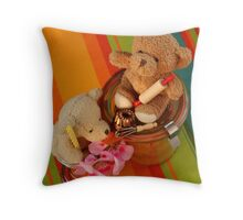 The Bears as Birthday Cake Bakers Throw Pillow