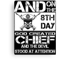 Airplane navy chief navy pride Us Navy navy chief dad navy chief wife  Canvas Print