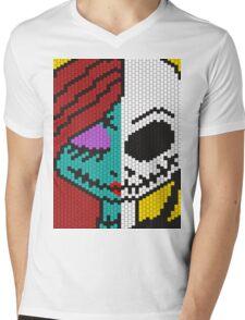 Jack Skellington and Sally Mens V-Neck T-Shirt