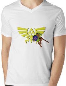 The Legend of Zelda: Hero of Triforce Mens V-Neck T-Shirt