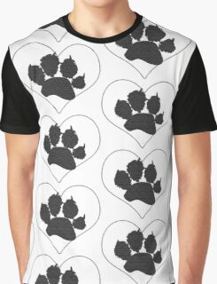 Paw Print In Heart 1 Graphic T-Shirt