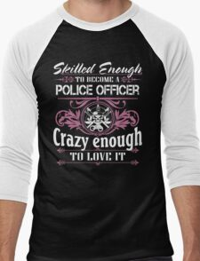 Occupation police officer blue line police officer ninja police office Men's Baseball ¾ T-Shirt