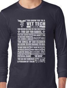 Vet Tech T Shirt vet tech sweatshirts vet tech travel mugs vet tech hu Long Sleeve T-Shirt