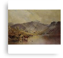 Alfred de Bréanski, Snr. BRITISH CADER IDRIS, PASSING SHOWERS Canvas Print