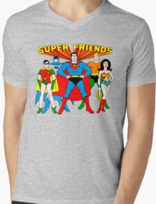Super Friends Hero Mens V-Neck T-Shirt
