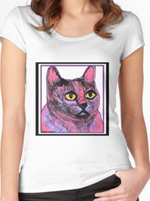 Kitty in Purple and Pink Women's Fitted Scoop T-Shirt