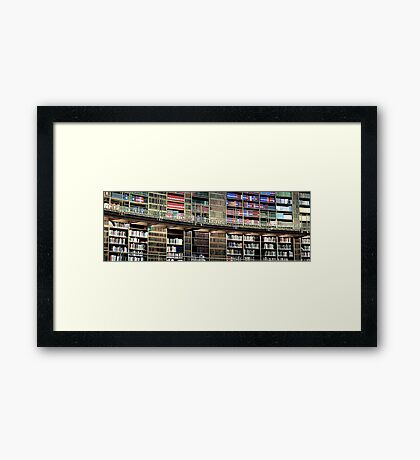 the british library Framed Print