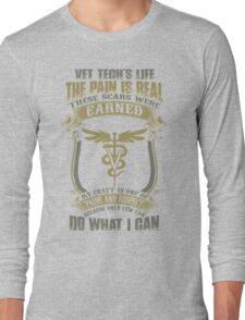 Vet T Shirts Funny vet tech superpower vet technician caduceus Veterin Long Sleeve T-Shirt