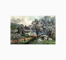 American homestead spring - Currier & Ives - 1869 Unisex T-Shirt