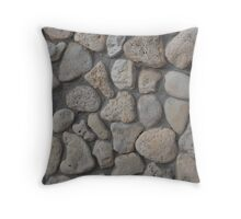 Background of stone wall texture Throw Pillow